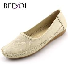BFDADI frauen Mode Schuhe Frauen Sommer Wohnungen Große Größe Weiblich Comfort Freizeitschuhe Runde Kappe Stickerei Slip-on schuhe M01