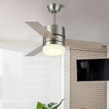 Обратный led42 дюймов скандинавский Ретро потолочный вентилятор