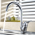 BECOLA Free shipping Swan hot and cold water kitchen faucet Single handle single hole brass mixer tap sink mixer BR-9115