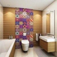 Creative Moroccan style PVC retro living room bedroom wallpaper wall sticker kitchen oilproof bathroom waterproof sticker