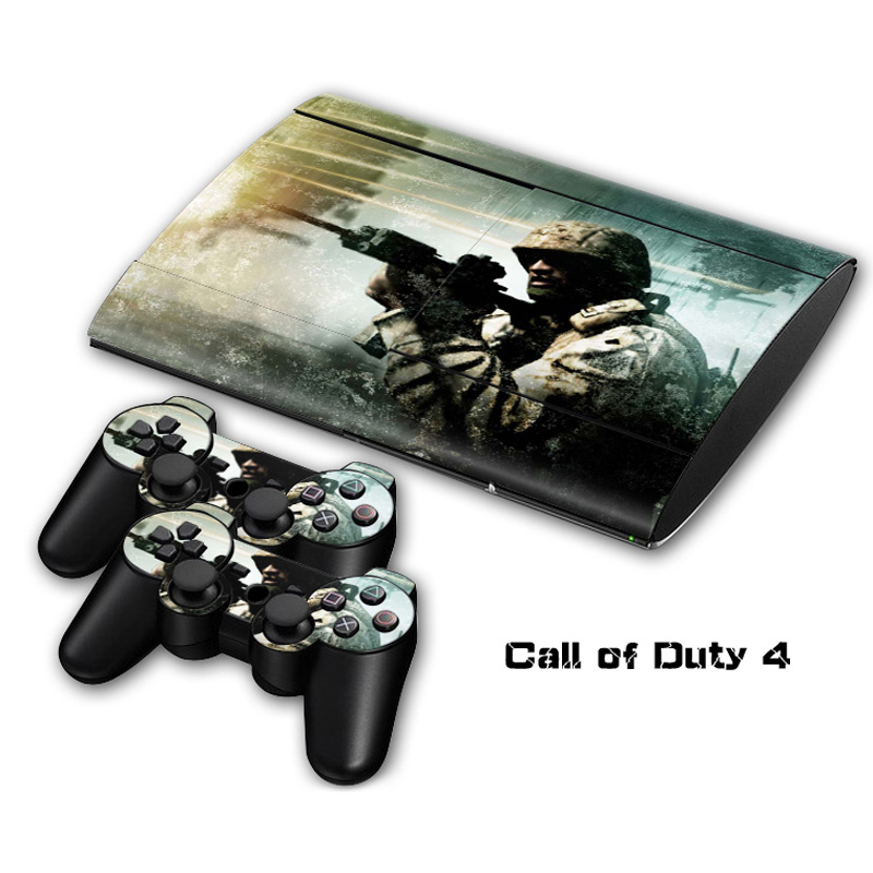 Call of Duty 4 Vinyl Skin Sticker For Sony PlayStation 3 Super Slim Console and Controller Skin