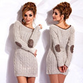 2017 New Fashion Sexy Casual Sister Party Dress Sweater Dress