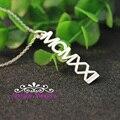 Персонализированное ожерелье с именной табличкой  модное ожерелье из серебра 925 пробы  украшение из букв для влюбленных и Bff