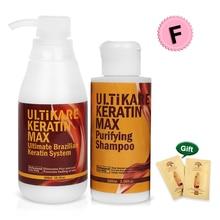купить Brazilian 300ml Free Formalin Keratin Treatment+100ml Purifying Shampoo Straightening and Repair Cruly Hair Set+Free Gifts дешево