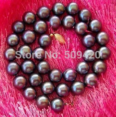 ~~  >>NEW HOT SELL 10-11MM TAHITIAN AAA+++ BLACK Pearl Necklace 14KGPT 18 INCH