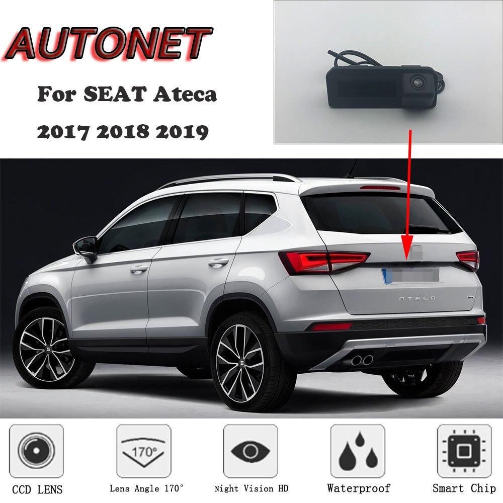 AUTONET Backup Rear View Camera For SEAT Ateca 2017~2019/Original Factory Style/Instead Of Original Factory Trunk Handle Camera