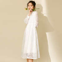Real Time 2018 Spring New Pattern Korean Small Fresh Literature Model Good Quality White Fairy Easy