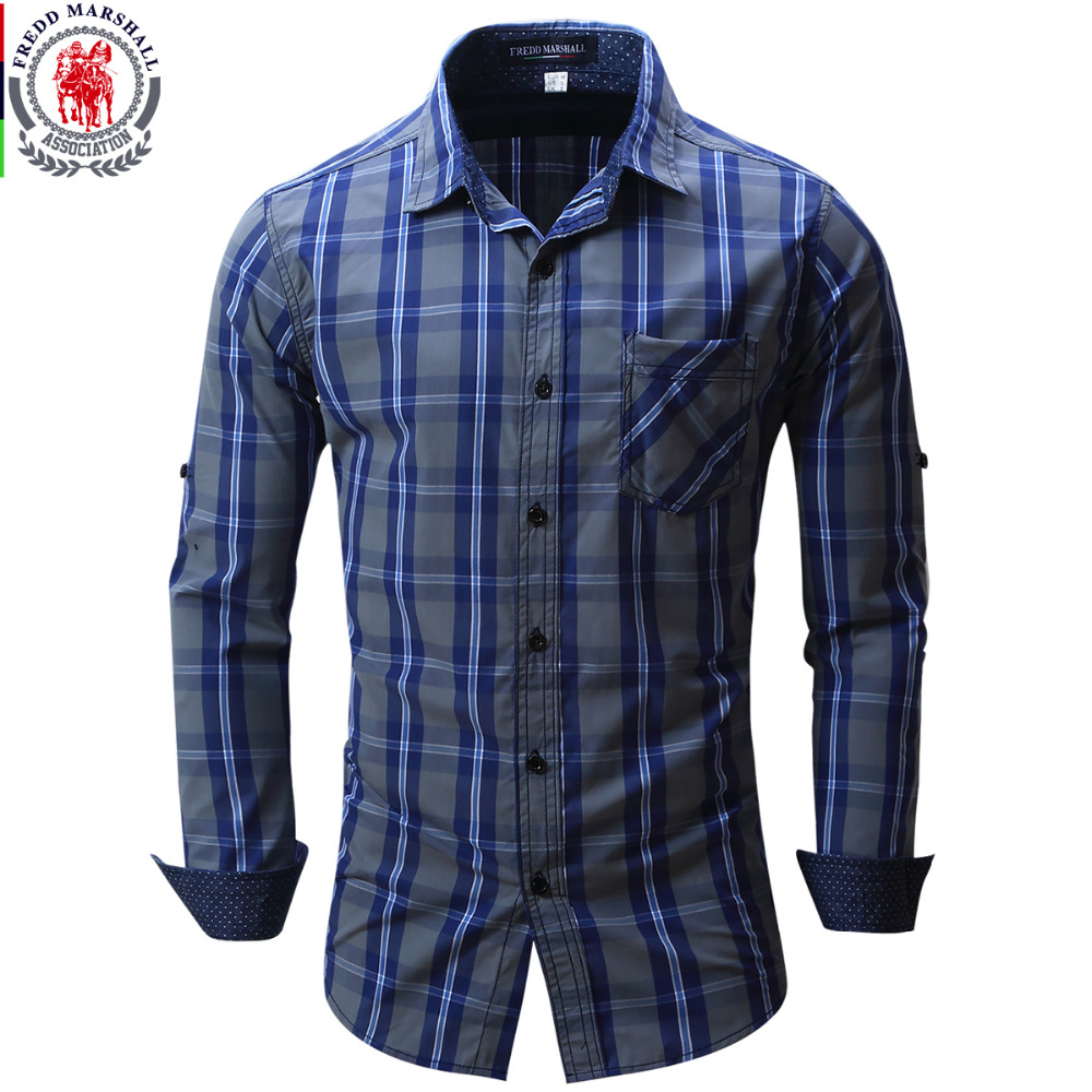 2017 new arrival men 39 s shirt long sleeve plaid shirts mens for Top dress shirt brands