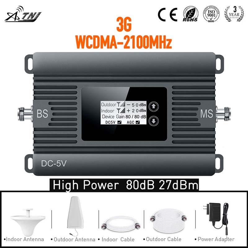 Novo produto! Alta potência 3G 2100 mhz repetidor amplificador de - Peças e acessórios para celular