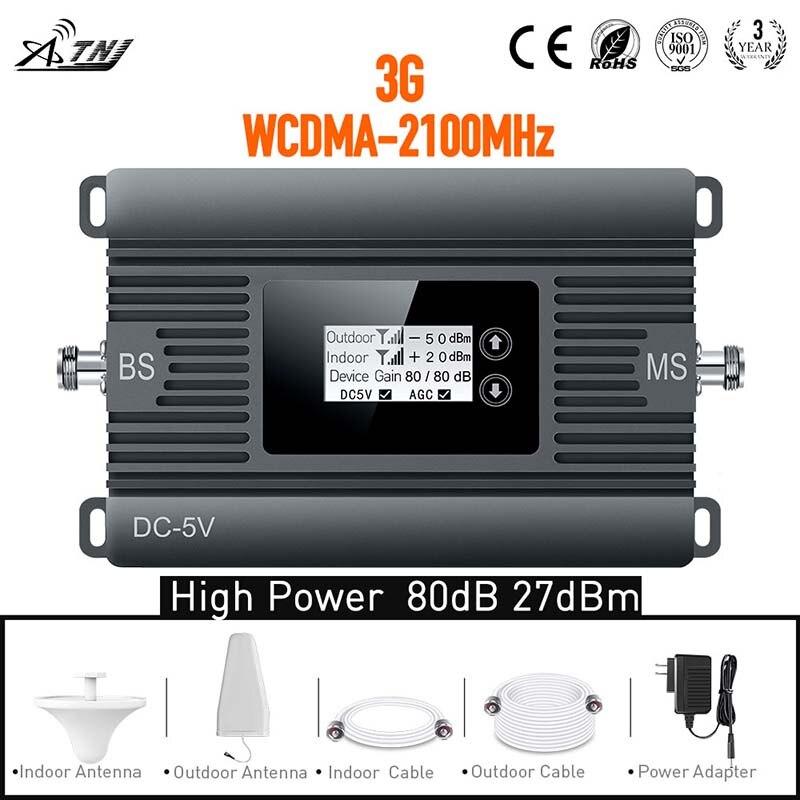 Nouveau produit! Amplificateur de signal répéteur haute puissance 3G 2100 mhz amplificateur de signal cellulaire 3G WCDMA