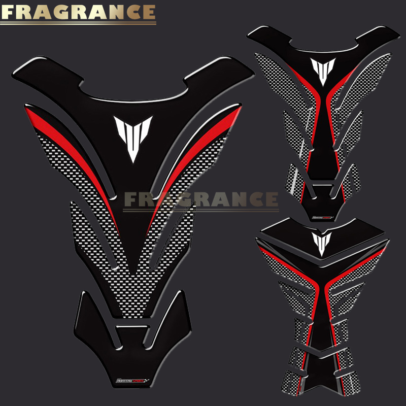 3D Rubber Sticker Motorcycle Emblem Badge Decal For Yamaha MT03 MT07 MT09 MT-09 FZ07 MT-07 MT10 MT25 Tank All Years