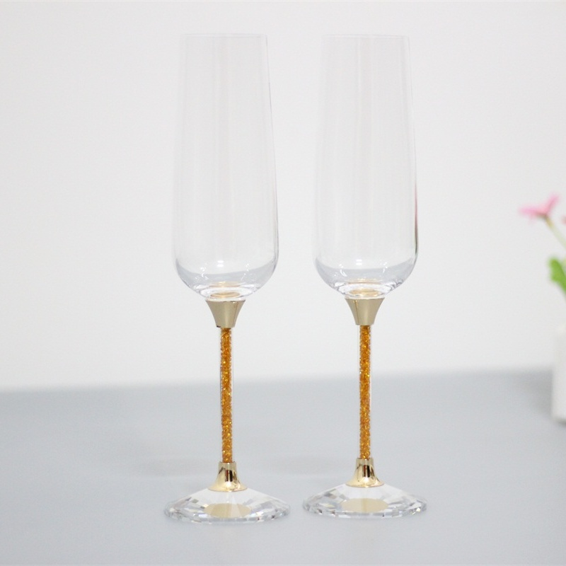 Popular gold champagne flutes buy cheap gold champagne for Buy champagne glasses online