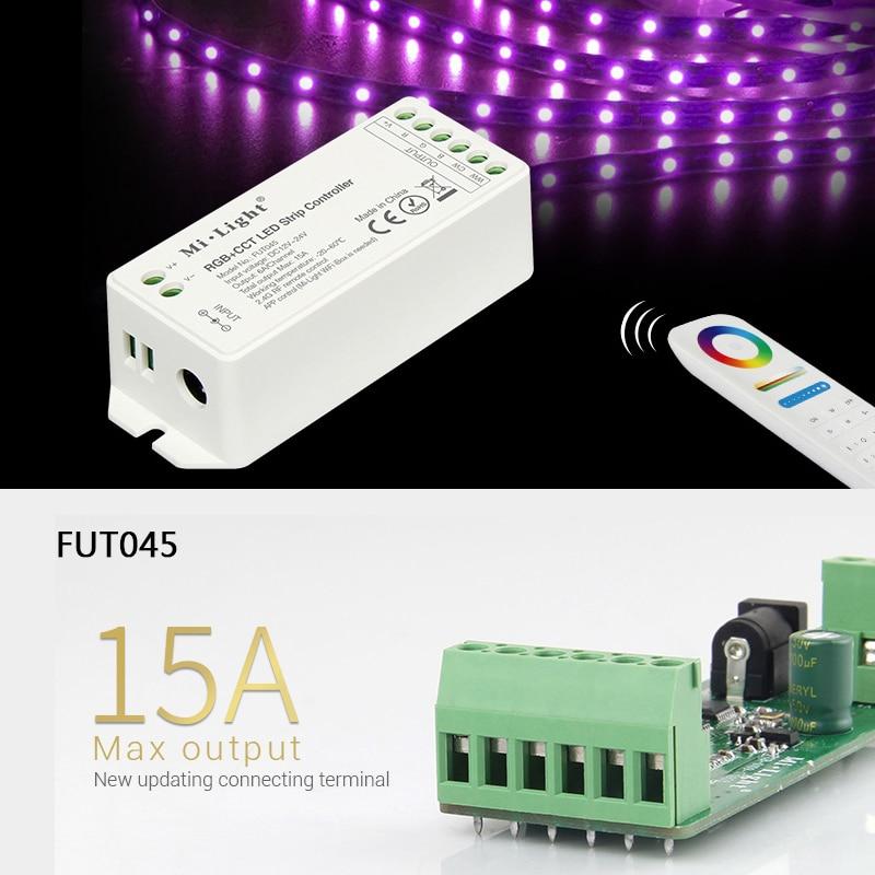 Mi light RGB RGBW RGB CCT LED Strip Controller DC12V 24V 2 4G Wireless WIFI APP