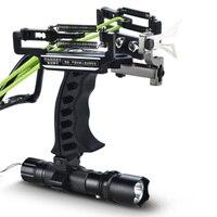 Laser Slingshot Black Hunting Bow Catapult Aluminium Alloy Slingshot Powerful Slingshot Arrow Rest Compound Bow Crossbow Bolts