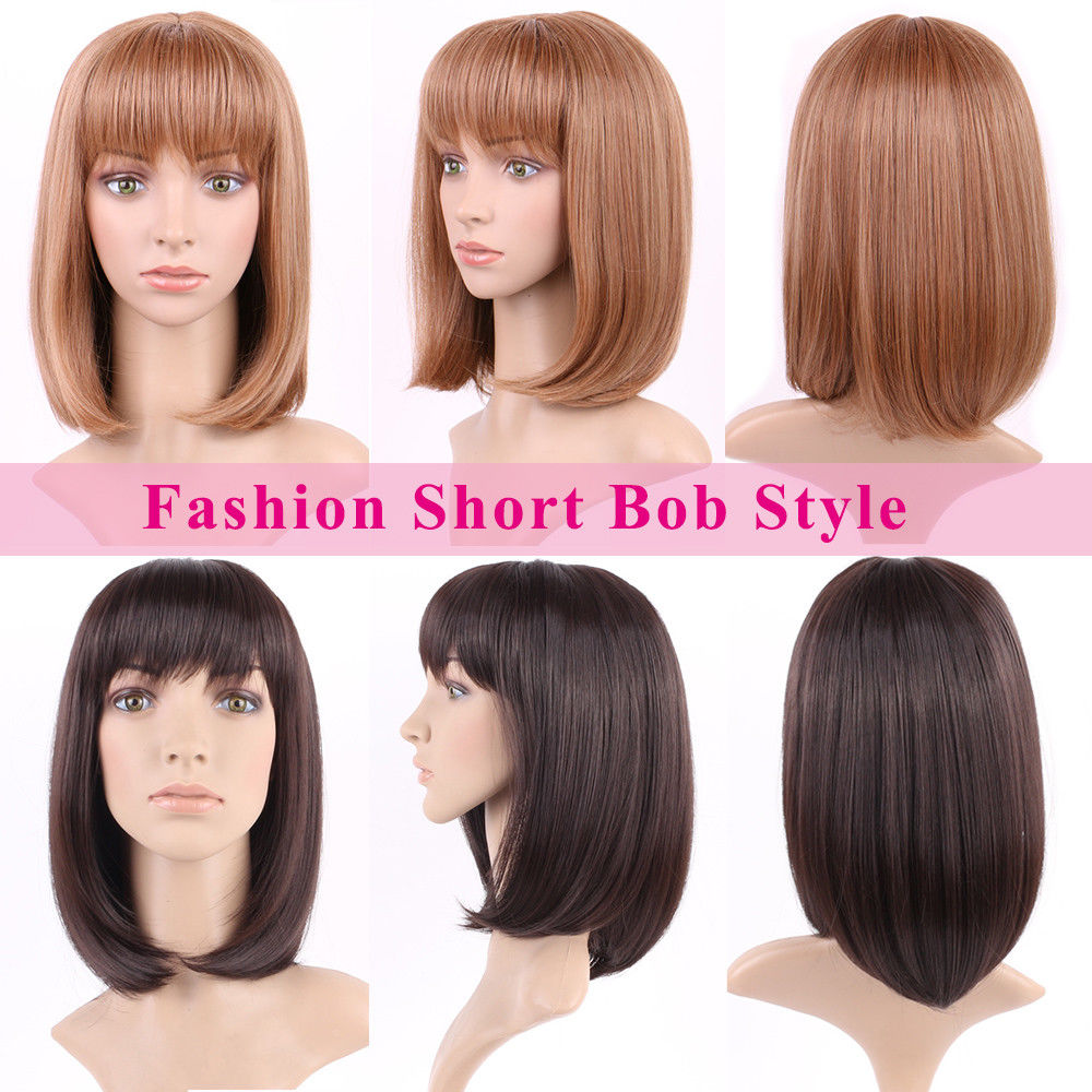 Image 3 - S noilite Synthetic Wigs For African American Black Women Long Brown Mixed Two Tone Wigs With Bangs-in Synthetic None-Lace  Wigs from Hair Extensions & Wigs