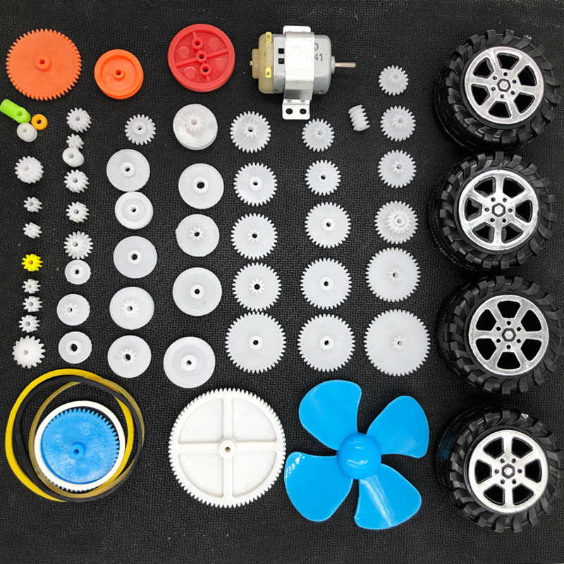 Plastic Shaft Gears Wheel Motor Propeller Blade Accessories For RC Toys Car DIY Accessories For Scientific Experiment Children