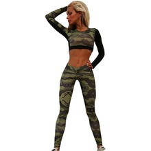 Summer Women Tracksuit Camouflage
