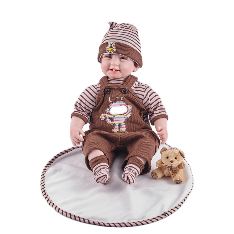 цены 55cm Realistic Full Silicone 22'' Reborn Baby Doll For Sale Lifelike Baby Alive Dolls Kids Playmate Christmas Creative Gift L645