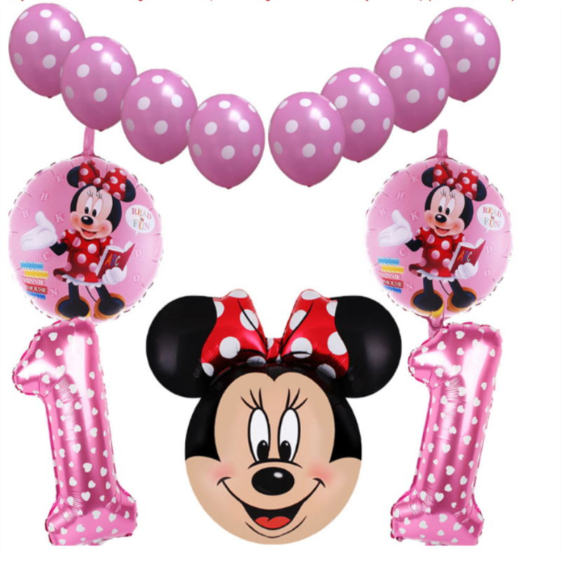 Mickey Minnie balloons Large Giant 67cm Big Red Bowknot standing mouse Airwalker Balloons for Birthday Party Decorations Kids