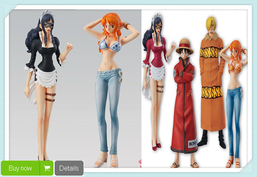 ФОТО Japanese Animation Cartoon One Piece Figures Luffy Nami Sanji Baby-5 PVC Action Figures Toys 13CM 6pcs/Set Drop Shipping