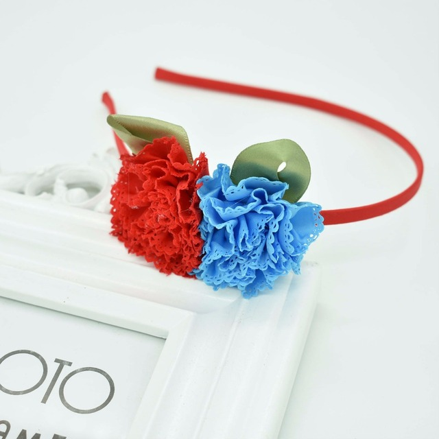 2018 New Children's flowers green leaves headband cat ears cute hair accessories gum for hair hair band Baby Accessories