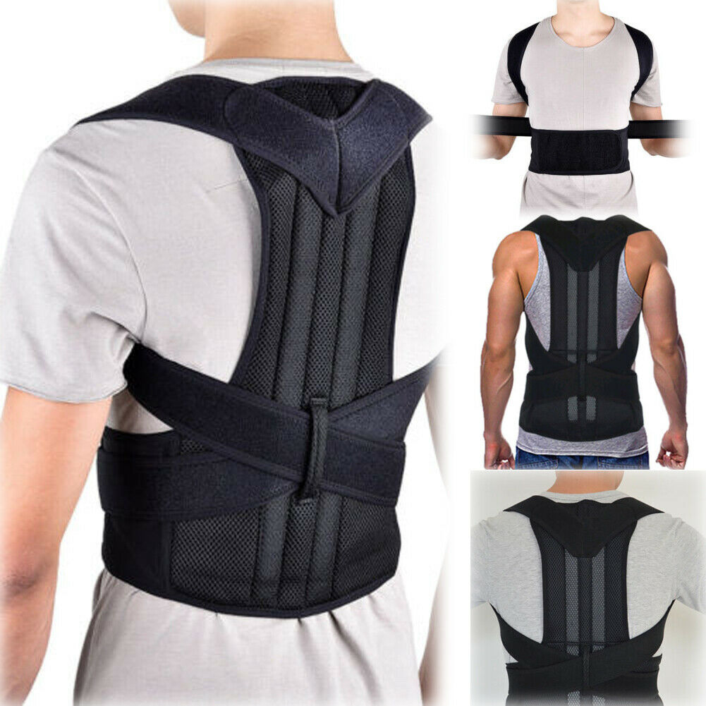 Men Women Adjustable Posture Corrector Support Magnetic Therapy Back Shoulder Brace Belt Posture Correction Prevents Slouching