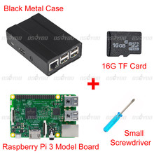 Cheaper Raspberry Pi3 Set of Pi 3 Model B Board + High Quality Metal Case + 16GB TF Card + Small Screwdriver Free Shipping