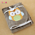 Topsale Adorable Newborn Cozy Blanket New Thicken Double Layer Fleece Infant Swaddle Bebe Owl Stroller Wrap Baby Bedding Blanket