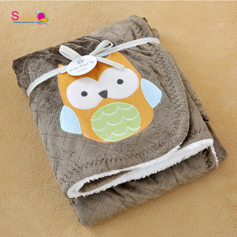 Topsale Adorable Newborn Cozy Blanket New Thicken font b Double b font Layer Fleece Infant Swaddle