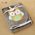 Topsale Adorable Recién Nacido Manta Acogedora Nueva Espesar Fleece Doble Capa Búho Cochecito Bebe Infantil Swaddle Abrigo Del Bebé Manta de Cama