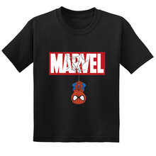Free shipping Spider-Man Cartoon Print Kids Funny T-shirt Baby Girls Summer Cotton Short Sleeve T shirt Boys Casual Clothes baby boys summer spider man t shirt boy short sleeved spider man t shirt kids cotton fashion top tee 2017 new arrival 10c
