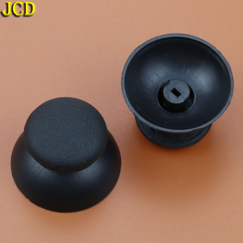 JCD 2pcs Black 3D Analog Joystick Cap For Sony Playstation 3 for PS3 Controller Mushroom Cover