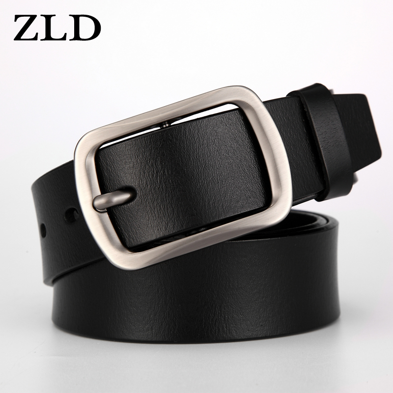 ZLD mens leather belt male genuine leather strap luxury pin buckle black and brown Colors man classice leisure Jeans belts