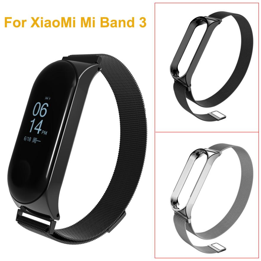 Wrist Strap Bracelet for Xiao Mi Band 3 Milanese Magnetic Loop Stainless Steel Watch Band Strap Smart Watch 18Jul10 цены