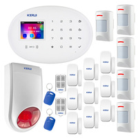 KERUI New W20 wireless WiFi GSM home security burglar alarm system with 80dB siren RFID card alarm disarm