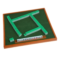 New Portable Chinese Mini Mahjong Set with Foldable Table Funny Family Board Game Indoor Table Game for Travelling Entertainment