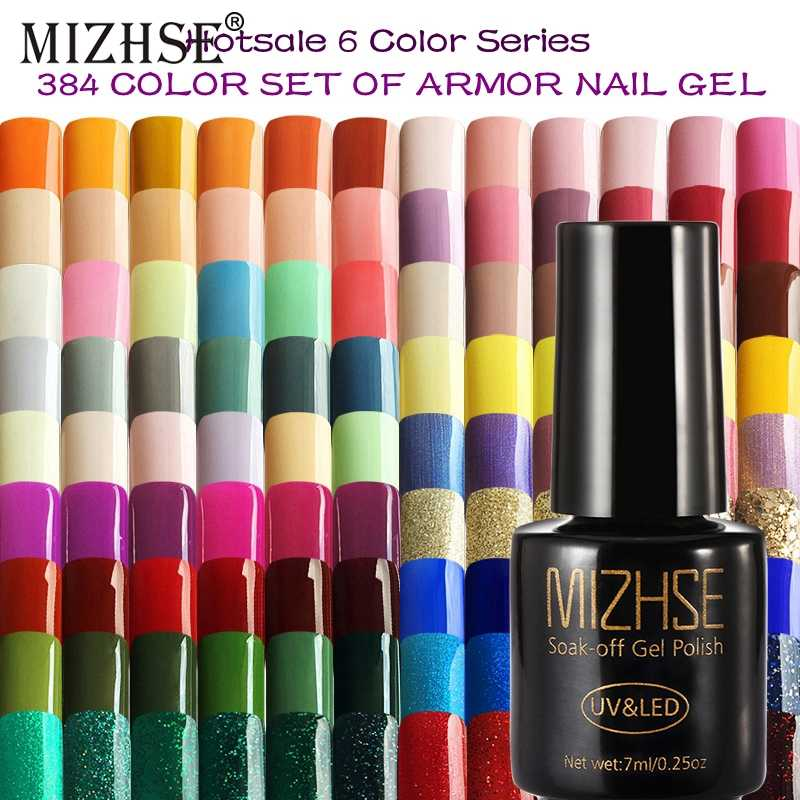 MIZHSE 7ML Kleur Gel Nagellak Nagel Gel Polish Art Serie Kleur UV LED Acryl voor Gel Vernis Gelpolish shilak Semi Permanente