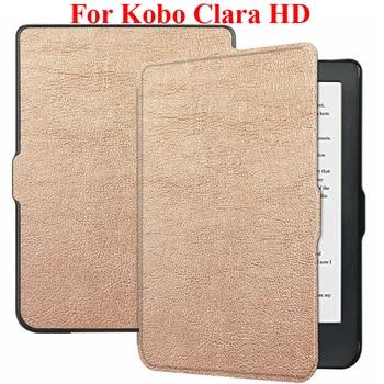 Funda protectora inteligente para Kobo Clara HD de 6 pulgadas, funda protectora para lector de libros electrónicos, funda cartuchera para KoboClara HD Guard