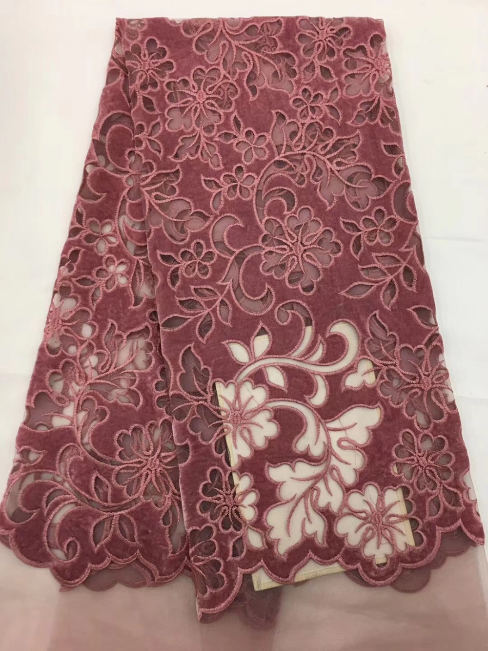 Latest French Manicure Designs: Latest African French Lace Fabric High Quality Guipure