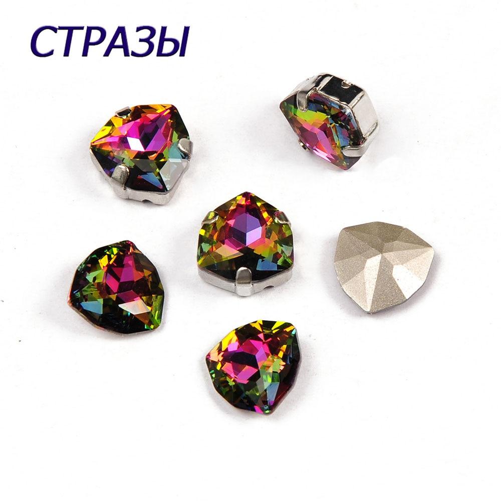 CTPA3bI 4706 Crystal Vitrail Medium Color Sewing Charming Rhinestones Jewelry Beads 12/17 mm Triangle Shape Glass Trilliant