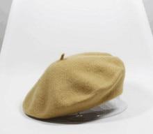 Модные женские зимние акрил твердые береты warmmer шляпы