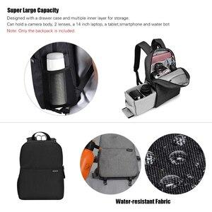 Image 4 - Caden l4 mochila para câmera dslr, bolsa de viagem, ombro, à prova de choque, para canon, sony, nikon, slr, lentes de câmera, tripods, laptop