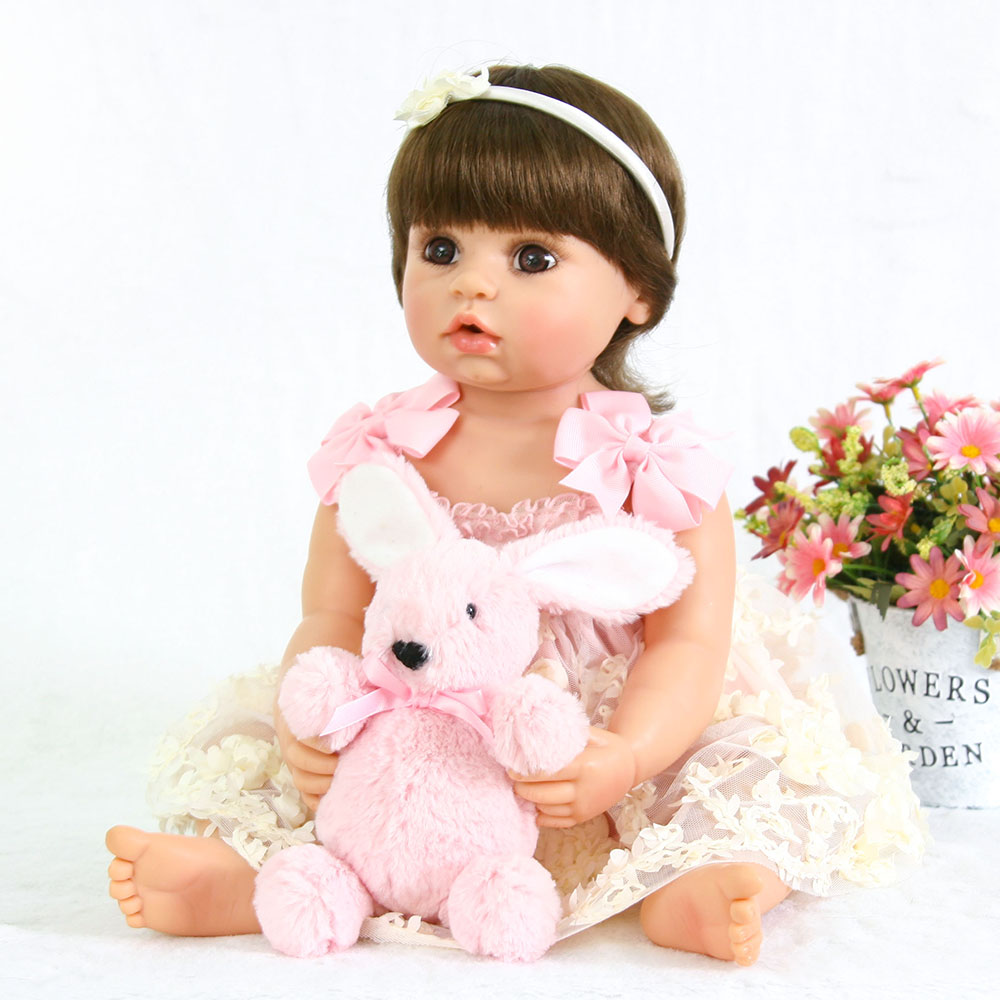 2018 New 22 bebe real Reborn Doll Reborn Babies Silicone Lifelike Baby Dolls Kids Growth Partners Birth Reborn Juguetes2018 New 22 bebe real Reborn Doll Reborn Babies Silicone Lifelike Baby Dolls Kids Growth Partners Birth Reborn Juguetes