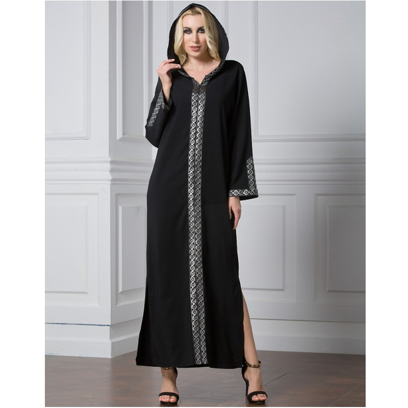 YSMARKET vêtements musulmans femmes à manches longues Robe Maxi Abaya islamique femmes robes Vintage 6XL Robe Caftan Caftan marocain Y1262