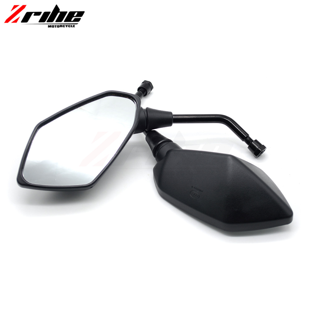 for 2PCS Universal Motorcycle Side Mirrors 8mm 10mm Stem Motorcycle REARVIEW MIRROR For KTM 690 DUKE 990 1290 SUPER DUKE RC8/R
