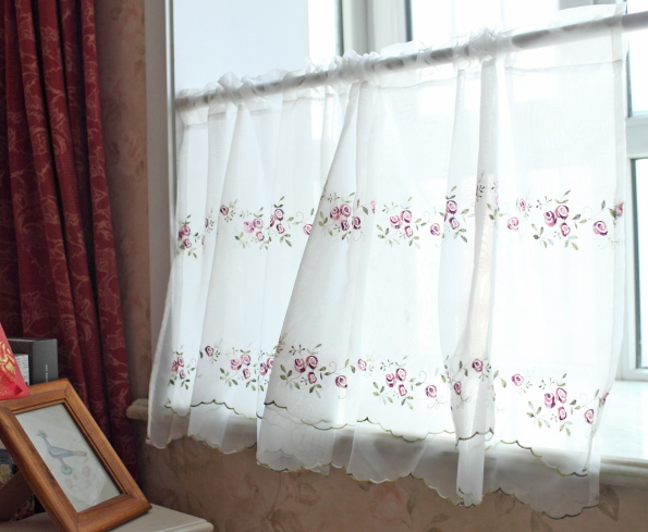 Curtains Ideas coffee curtains for kitchen : Aliexpress.com : Buy Pastoral style bunk embroidered Terri Wong ...