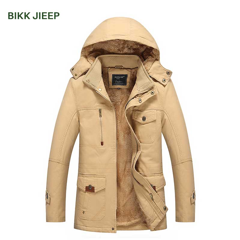 2017 Winter Jacket Men Cotton Thicken Warm Coat Men's Outwear Hooded Parka Plus Size 4XL Coats Windbreak Snow Military Jackets