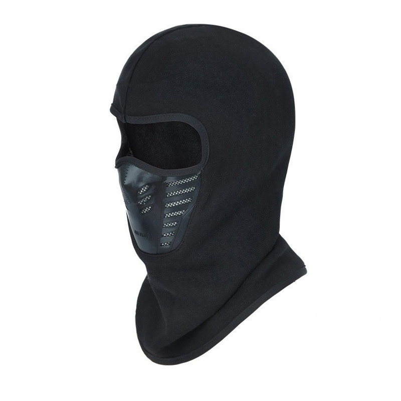 Black Motorcycle Motorbike Bike Helmet  Winter Balaclava Unisex