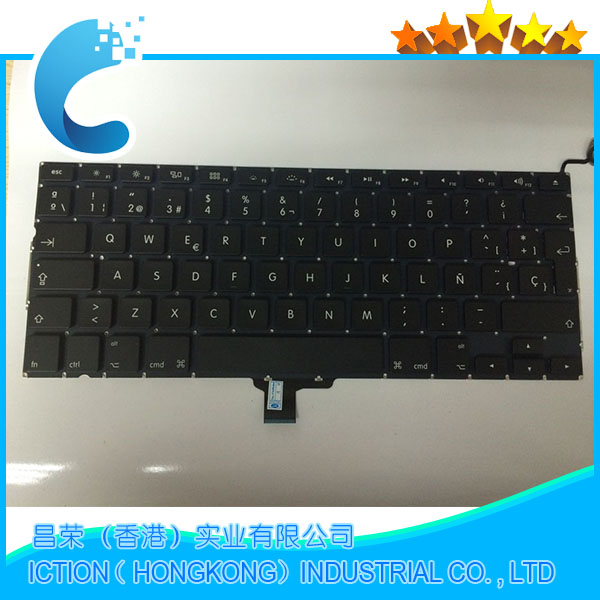 10pcs lot Wholesale New Keyboard For Apple Macbook Pro 13 A1278 Keyboard SP Spanish Keyboard Replacement