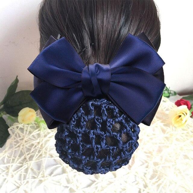 Multi Color Bowknot Nurse Stewardess Hair Weave Net Pocket Headdress